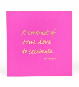 Greetings Card, A contract of true love