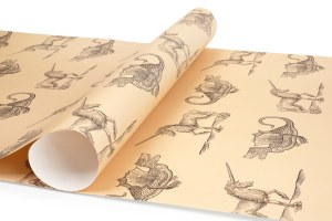 Collections Unicorn and Dragon Gift Wrap