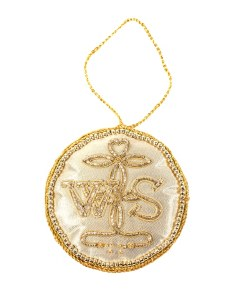 Gold 'WS' Seal Decoration