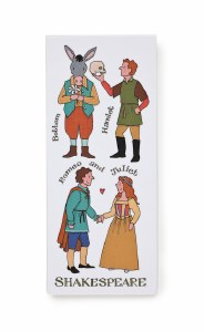 Shakespeare Characters Magnetic Bookmark