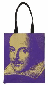Steve Kaufman Shakespeare Book Bag