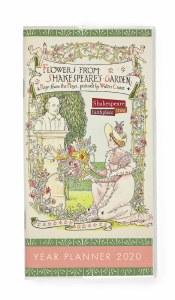2020 Planner Flowers from Shakespeare's Garden