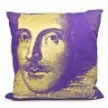 Steve Kaufman Shakespeare Cushion Cover