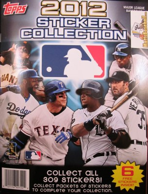 2012 TOPPS STICKERS ALBUM