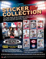 2013 TOPPS BB STICKERS/ALBUMS