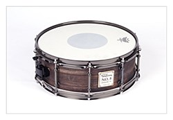 No.8 Zebrano Birch Snare - Stained Black 14*5