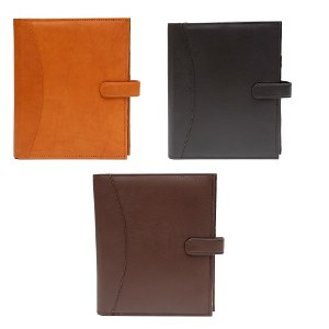 Leather A19 Book Jacket with Snap