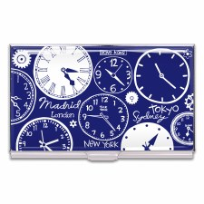 "Acme Business Card Case ""Clocks"" -Nancy Wolff"