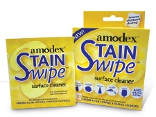 Amodex Stain Swipe Surface Cleaner- 10 wipes per package