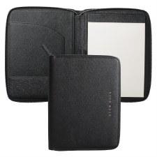 Hugo Boss Saffiano Leather A5 Folder in Black