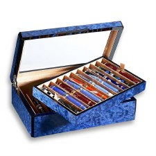 Venlo Company 20 Pen Box in Blue