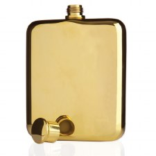 Viski Gold-Plated Flask