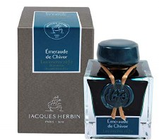 Jacques Herbin 1670 Shimmer Ink- Emerald of Chivor 50ml