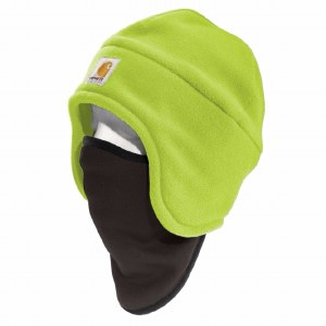 100795 Brite Lime OSFA High-Visibility Fleece 2-in-1 Hat