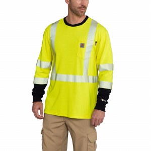 102905 FR High-Visibility Force Long-Sleeve T-Shirt Class 3