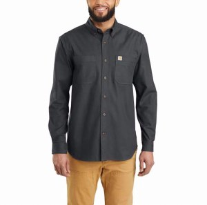 103870 Rugged Flex® Hamilton Solid Long-Sleeve Shirt