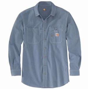 104138 FR Force® Original-Fit Lightweight Long-Sleeve Button Front Shirt