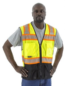 75-3239 High Visibility Mesh Vest with Dot Reflective Chainsaw Striping