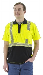 75-5213 High Visibility Short Sleeve Polo with  Reflective Chainsaw Stripping