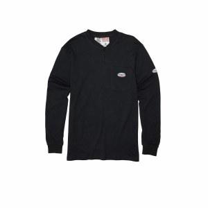 FR0101 Black FR Henley T-Shirt