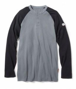 FR0401 FR Two Tone Henley Shirt