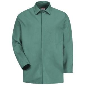 KEW2 Visual Green S Flame Resistant Lab Coat