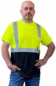 LUX-SSETPBK High Visibility Classic Black Bottom T-Shirt