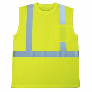 MAX403 MaxHi-Viz Class 2 Moisture Wicking Sleeveless Pocket Shirt