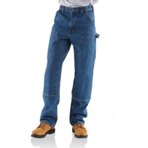 B73 Dungaree Fit Double Front Washed Logger Jean