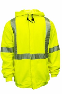 C21HC05C3 Hooded/Zipper Hi-Vis Sweatshirt