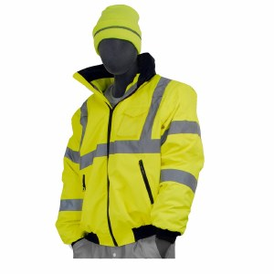 75-1301 Hi-Vis Yellow High Visibility DOT Rain Bomber Jacket