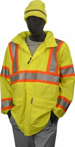 75-7301 Hi-Vis Yellow M High Visibility DOT Rain Jacket