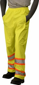 75-7351 Hi-Vis Yellow 6XL High Visibility DOT Waist Pants
