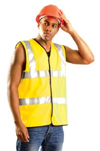 LUX-SSFULLG High Visibility Premium Solid Full Vest