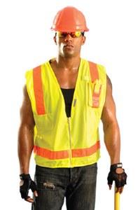 LUX-SSLSDZ High Visibility Premium Solid/Mesh Gloss Vest