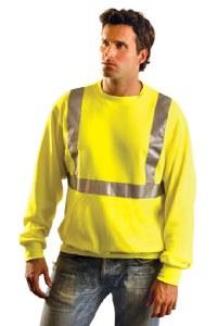 LUX-SWTL High Visibility Classic Lightweight Crew Sweatshirt