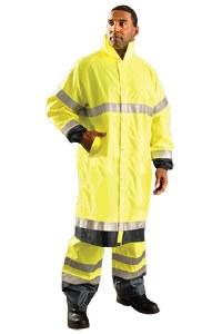 LUX-TJRE High Visibility Premium Breathable Rain Jacket