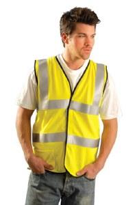 LUX-SSFGCFR Premium Flame Resistant Dual Stripe Mesh Vest