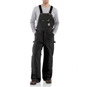 R41 Duck Zip To Hip Bib Overall Quilt Lined