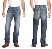 10023467 ARIAT FR M4 LOW RISE STRETCH DURALIGHT BOUNDARY BOOT CUT JEAN