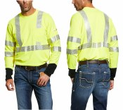 10025432 ARIAT FR HI-VIS T-SHIRT