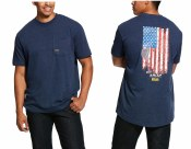 10030330 ARIAT REBAR COTTON STRONG AMERICAN GRIT GRAPHIC T-SHIRT