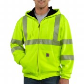 100504 High-Visibility Zip-Front Thermal-Lined Sweatshirt