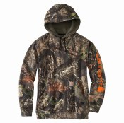 101763 Midweight Camo Sleeve Logo Hooded Sweatshirt