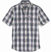 103550 Essential Plaid Button Down Short-Sleeve Shirt