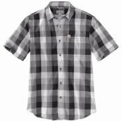 103551 Essential Plaid Open Collar Short-Sleeve Shirt