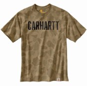 104346 Relaxed Fit Heavyweight Short-Sleeve Logo Camo T-Shirt