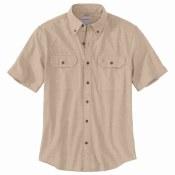 104369 Original Fit Midweight Short-Sleeve Button-Front Shirt