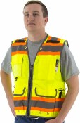 75-3235 High Visibility Yellow Two-Tone Heavy Duty Surveyors Vest
