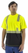 75-5215 High Visibility Short Sleeve Shirt with Reflective Chainsaw Stripping